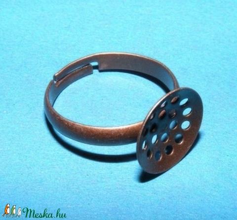 Gyűrű alap (22/A minta/1 db) - antik vörösréz (csimbo) - Meska.hu