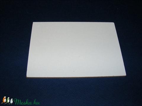 Farostlemez (28x28 cm/1 db) - fehér/natúr - Meska.hu