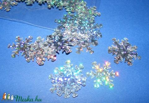 Flitter-31 (3 g/csomag) - hologramos ezüst (hópehely) - Meska.hu