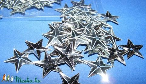 Flitter-32 (3 g/csomag) - ezüst (csillag) - Meska.hu