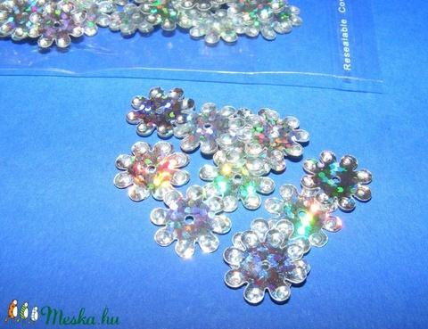 Flitter-38 (3 g/csomag) - hologramos ezüst (virág) - Meska.hu