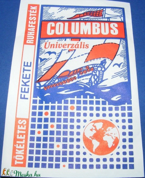 Columbus ruhafesték (5 g/1 db) - papagájsárga - Meska.hu