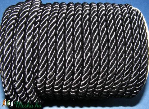 Sodrott zsinór - 8 mm (ZS1S/1 m) - fekete - Meska.hu