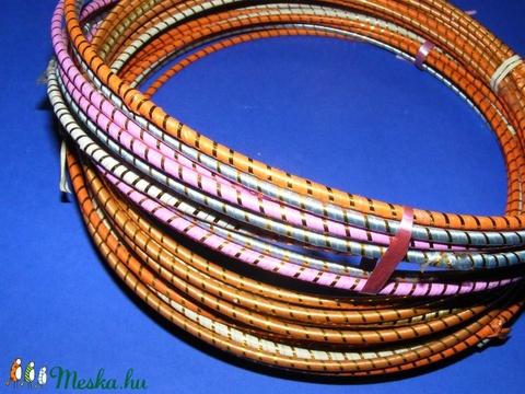 Díszített drótarika (Ø 20 cm/1 db) - rózsaszín - Meska.hu