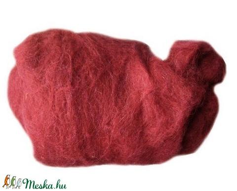 Festett gyapjú (5 g) - bordó - Meska.hu