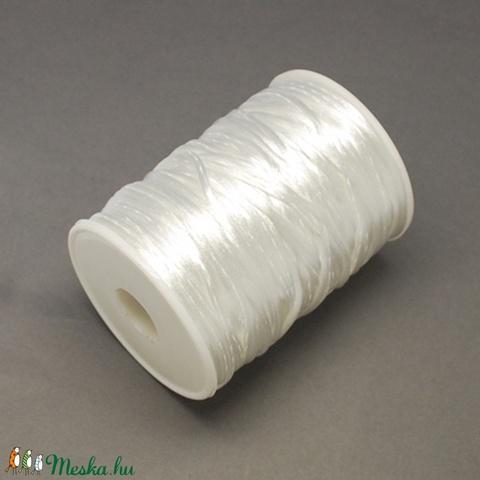 Szatén zsinór - 2 mm (ZS26. minta/1 m) - fehér - Meska.hu