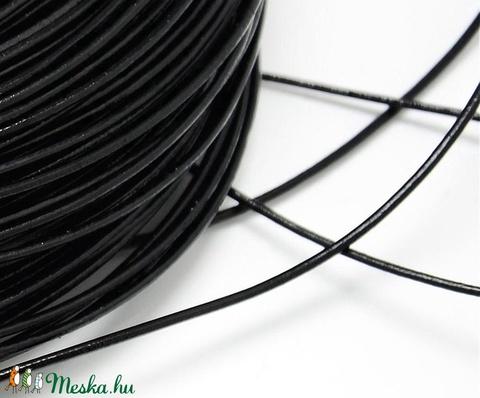 Hasított bőrszíj - 3 mm (1. minta/1 m) - fekete  - Meska.hu