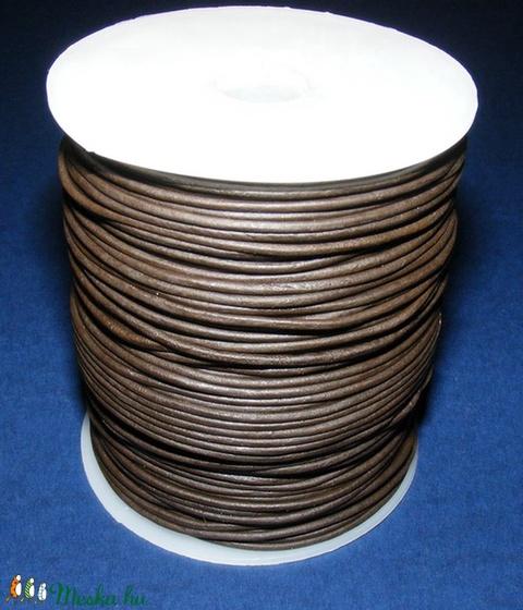 Hasított bőrszíj - 1,5 mm (2. minta/1 m) - sötétbarna - Meska.hu