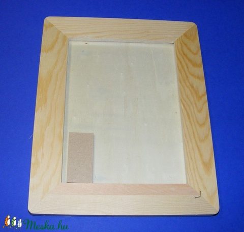Fa képkeret (24x19 cm/1 db) - lekerekített - lapos (13x18 cm) - Meska.hu
