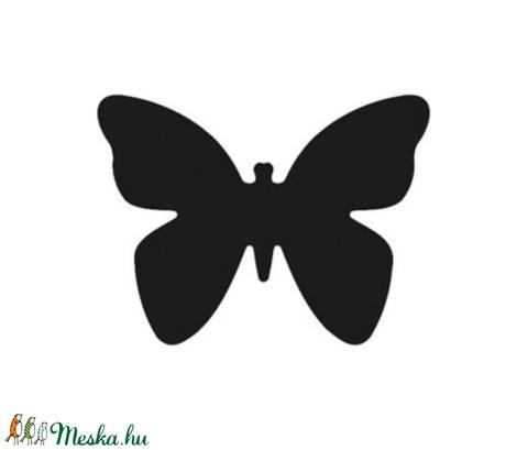 Dekorgumi- és papírlyukasztó (5. minta/1 db) - pillangó - 25 mm - Meska.hu