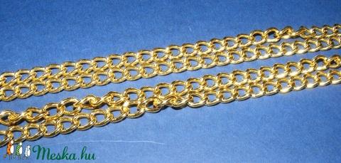 Táskalánc (9x6 mm/120 cm) - arany színű - csat, karika, zár - Meska.hu