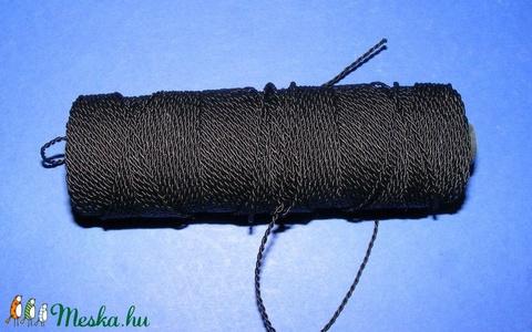PP-1 színes zsinór (100 m/1 db) - fekete - Meska.hu