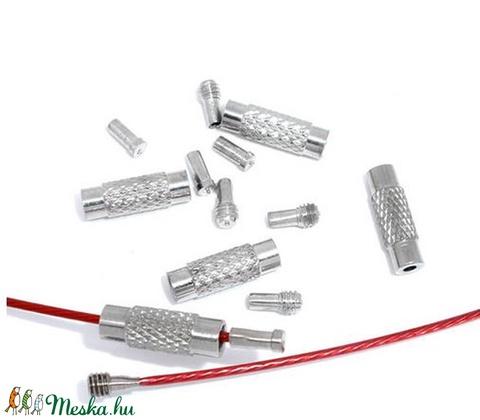 Csavaros kapocs - 3 részes (341/G minta/1 készlet) - 13x5 mm - Meska.hu