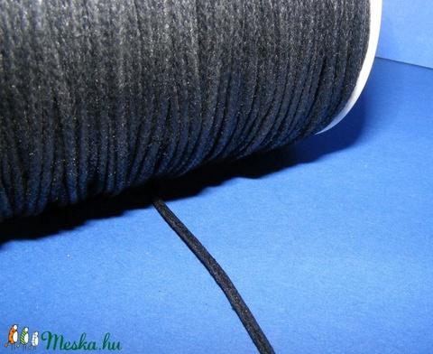 Viaszos pamutzsinór - 2,2-2,5 mm (ZS05. minta/1 m) - fekete - Meska.hu