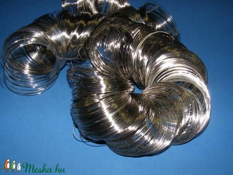 Memóriadrót - karkötő alap (Ø 50 mm/50 g) - platinum - Meska.hu