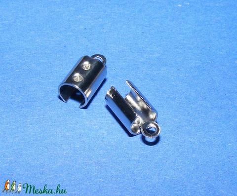 Nemesacél bőrvég (STAS-9 minta/1 db) - 10,5x5 mm - Meska.hu
