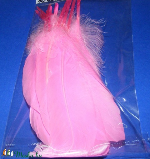 Dekorációs indián toll-23 (10 db) - rózsaszín (csimbo) - Meska.hu