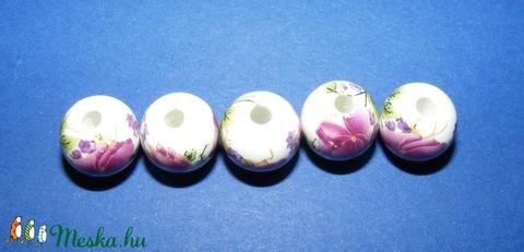 Porcelángyöngy-11 (� 12 mm/5 db) - gyöngy, ékszerkellék - Meska.hu