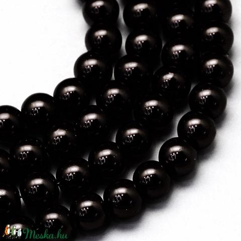 Viaszgyöngy-46 (Ø 4 mm/~ 230 db) - fekete - Meska.hu
