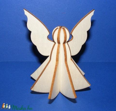 3D fa angyalka (4 részes) - Meska.hu