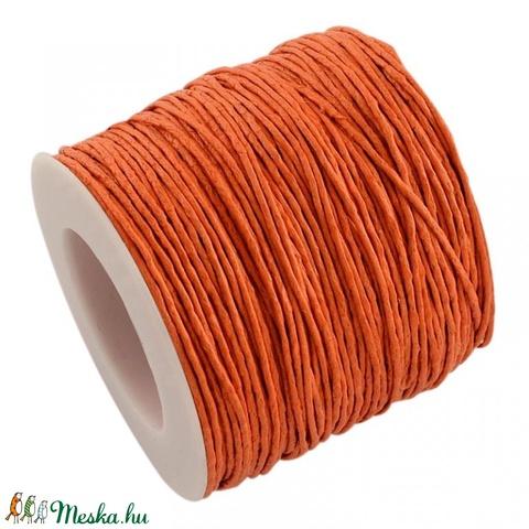 Viaszos pamutzsinór - 1 mm (2. minta/1 m) - narancssárga - Meska.hu