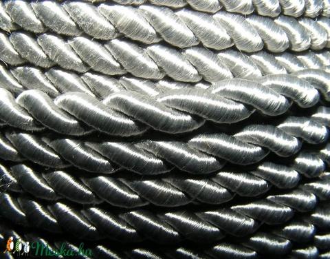 Sodrott zsinór - 5 mm (ZS88S/1 m) - ezüstszürke - Meska.hu