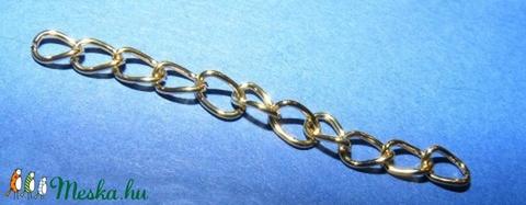 Lánchosszabbító (1063/B minta/10 db) - arany - gyöngy, ékszerkellék - Meska.hu