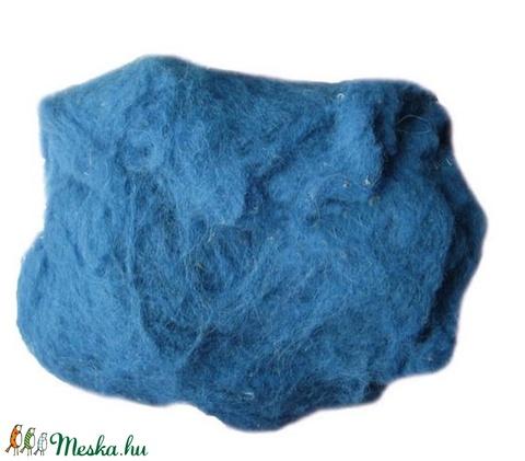 Festett gyapjú (50 g) - kék - Meska.hu