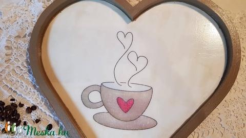 Szív alakú tálca (csinaldmesike) - Meska.hu