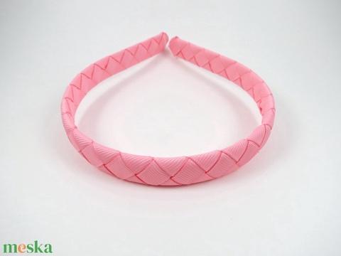 Cikk-cakkos hajpánt (rózsaszín) (RibbonLove) - Meska.hu