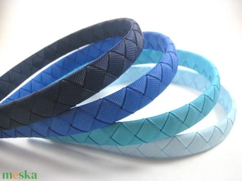 Cikk-cakkos hajpánt (kék) (RibbonLove) - Meska.hu