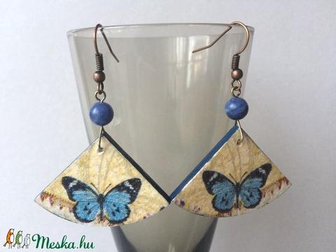 Kék pillangó fübevaló - Meska.hu