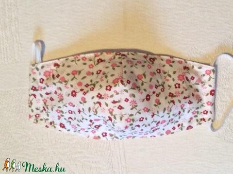 Pink,bordóvirágos maszk - Meska.hu