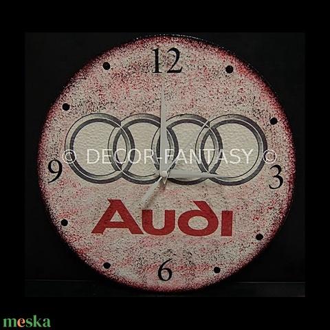 AUDI emblémával díszített óra audi autó rajongóknak - otthon & lakás - dekoráció - falióra & óra - Meska.hu