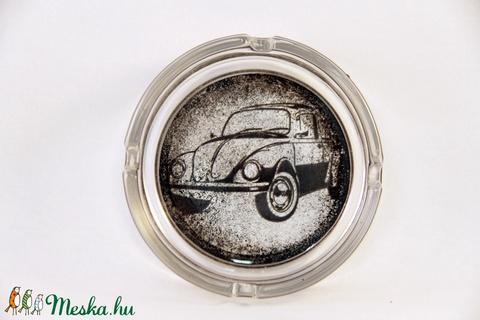 VOLKSWAGEN emblémás hamutál; A saját Volkswagen autód fényképével is!  ( BOGÁR   ) - otthon & lakás - dekoráció - díszüveg - Meska.hu