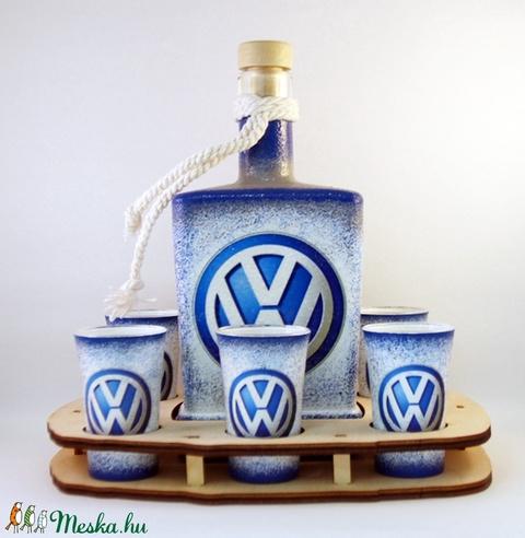 VOLKSWAGEN whiskys szett ; Saját Volkswagen autód fényképével is! - otthon & lakás - dekoráció - díszüveg - Meska.hu