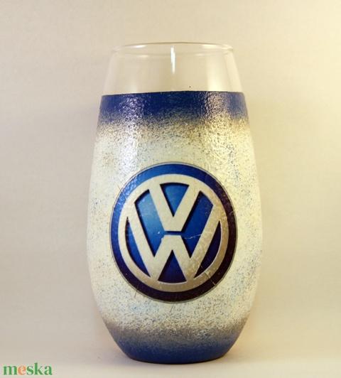 VOLKSWAGEN váza ; Volkswagen autód fényképével is!  - otthon & lakás - dekoráció - díszüveg - Meska.hu