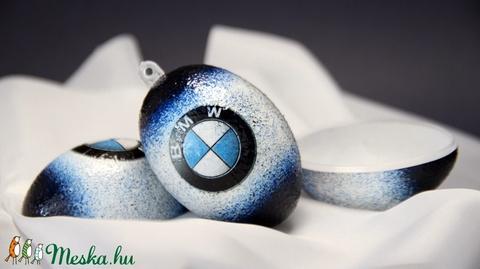 BMW emblémával  TÖLTHETŐ  HÚSVÉTI TOJÁS ( 6 cm )   - BMW rajongóknak (decorfantasy) - Meska.hu