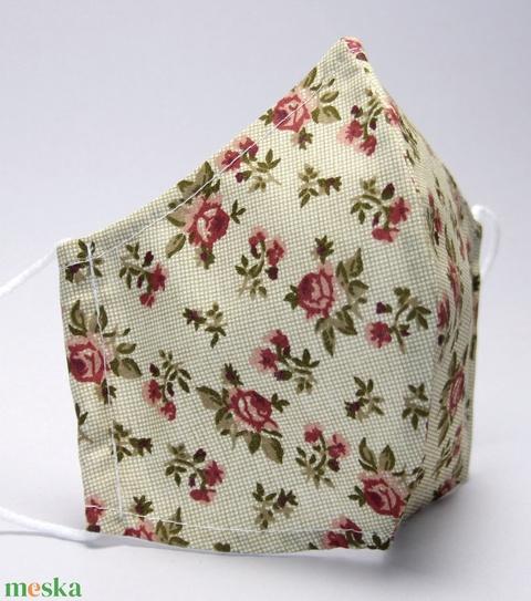 Szájmaszk -pamut szájmaszk - egészségügyi mosható szájmaszk-gyermek-felnőtt virág  mintás  szájmaszk #  - Meska.hu