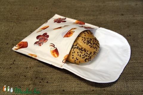 Pékárus szendvicstartó,nasitasi (20x18cm)-ÖKO környezetbarát anyagból óvodásoknak,iskolásoknak,-INGYENES SZÁLLÍTÁSSAL (decorfantasy) - Meska.hu