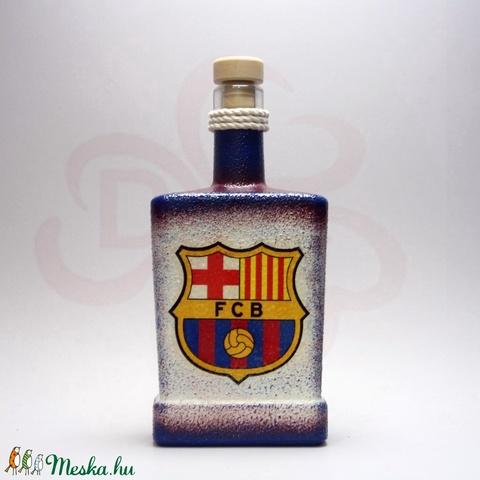 FC Barcelona italos üveg ; Barcelona futball szurkolóknak - otthon & lakás - dekoráció - díszüveg - Meska.hu