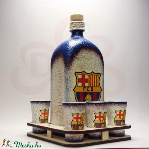 FC Barcelona italos készlet ; Barcelona futball szurkolóknak - otthon & lakás - dekoráció - díszüveg - Meska.hu