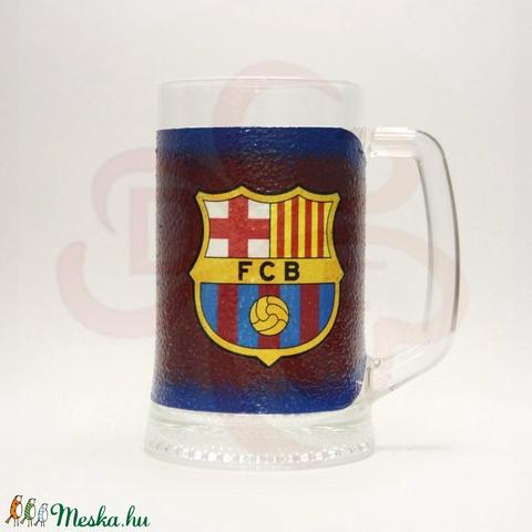 FC Barcelona sörös korsó ; Barcelona foci szurkolóknak - otthon & lakás - konyhafelszerelés - pohár - Meska.hu