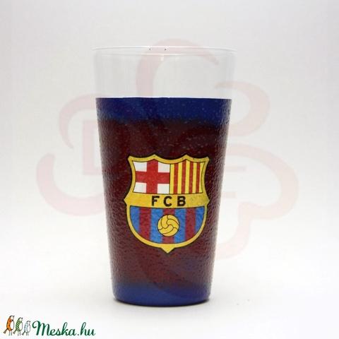 FC Barcelona üdítős pohár ; Barcelona foci szurkoló fiúknak, gyerekeknek - otthon & lakás - konyhafelszerelés - pohár - Meska.hu