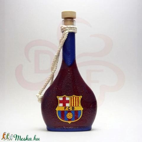 FC Barcelona pálinkás flaska; Barcelona futball szurkolóknak - otthon & lakás - dekoráció - díszüveg - Meska.hu
