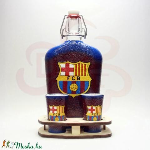 FC Barcelona italos készlet; Barcelona futball szurkolóknak - otthon & lakás - dekoráció - díszüveg - Meska.hu