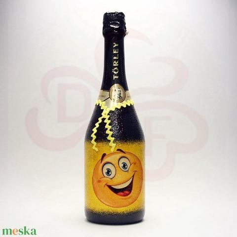Szülinap, névnap. ünnep, farsang, szilveszter ; vigyél pezsgőt ajándékba - otthon & lakás - dekoráció - díszüveg - Meska.hu