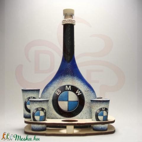 BMW pálinkás szett ; Saját BMW autód fotójával is!  (decorfantasy) - Meska.hu