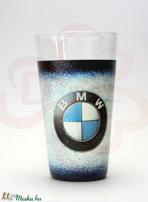 BMW üdítős pohár ; BMW rajongóknak - otthon & lakás - konyhafelszerelés - pohár - Meska.hu