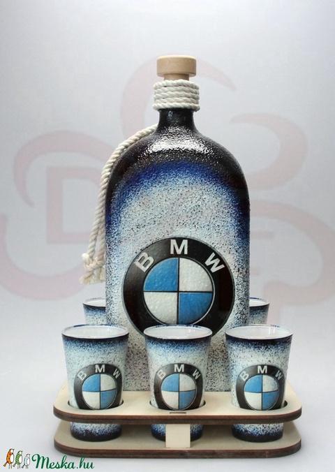 BMW ajándék családi készlet ; A saját BMW autód fotójával is!  - otthon & lakás - dekoráció - díszüveg - Meska.hu